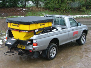 Saleuse SP6000 sur 4x4 pickup